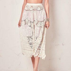 LoveShackFancy Antique White Drew Skirt SzM NWT!!